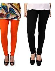 Style Acquainted People Women's Cotton Leggings (Pack Of 2) - B015J88NKG