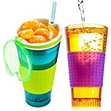 Technomart Snackeez Cup-| The All-In-One, Travel Cup Snack Drink Snack And Easy Go Anywhere Snacking Solution!...
