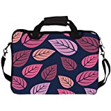 """Snoogg Leaves In Blue Pattern 12"""" 12.5"""" 12.6"""" Inch Laptop Notebook SlipCase With Shoulder Strap Handle Sleeve..."""