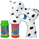 Haktoys Dalmatian Dog Bubble Shooter Gun With Light, Music & Barking Sound, 3 X AA Batteries, And Extra Bottle