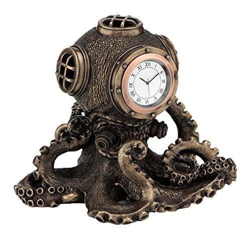 Steampunk Octopus Diving Bell Clock