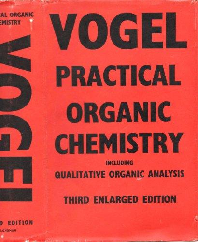 Vogel elementary practical organic chemistry pdf book