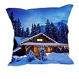 MeSleep Merry Christmas Cushion Covers In Digital Print - B018K9JAGM