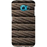 For Samsung Galaxy S6 Brown Rope ( Brown Rope, Rope, Rope Pattern ) Printed Designer Back Case Cover By TAKKLOO