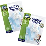 Baby Buddy Unisex 2 Piece Pacifier Holder Clip, Light Blue, 4 Months And Up