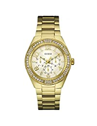 Guess Luna Gold Tone Multifunction Dial Analogue Womens Watch - W0729L2