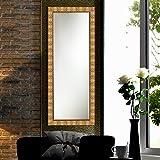 Elegant Arts & Frames Antique Gold Wall Decorative Wooden Mirror 12 Inch X 36 Inch