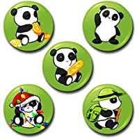Capturing Happiness Multicolor 5.8cm Kung Fu Panda Badge Pack Of 5 Badges - B01L71FSDO