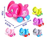 4pcs/Lot Wind Up Toy Wind-Up Animal for Baby, Toddler and Kid (Camel + Elephant + Crocodile + Mouse)