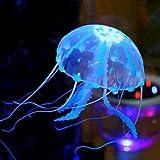 Aquarium Decoration Silicon Jellyfish | Glowing Effect | Assorted Color | Big