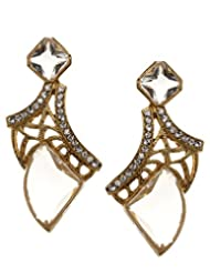 Bindhani Gold Plated Hanging Dangle Earrings For Girls