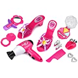 Stylish Susy Deluxe Pretend Play Toy Fashion Beauty Play Set W/ Working Hair Dryer, Assorted Hair & Beauty Accessories