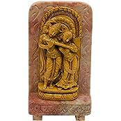 Radha & Krishna Idol Of Stone Brown Statue For Home And Office - B01KHDE9FQ