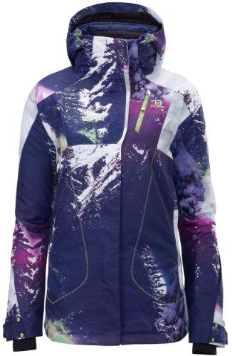 Salomon Women's Zero Jacket, Wizard Violet/Wild Berry, Large