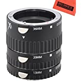 Full Autofocus Macro Extension Tube For Canon Digital EOS Rebel T1i T2i T3 T3i T4i T5i SL1 EOS60D EOS70D 50D 40D 30D EOS 5D EOS1D EOS5D III EOS 6D EOS 7D Digital SLR Cameras - Includes: 12mm 20mm 36mm