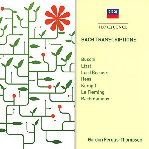 Bach Transcriptions Gordon Fergus-Thompson Audio CD