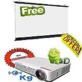 DLP Projector 3D 3600 L* / LED Lamp / WXGA - 1280x800 / Android WIFI Projector - B010Q8W7ZQ