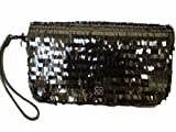 Coach Special Edition Sequin Large Clutch #44460 Black - 9.5