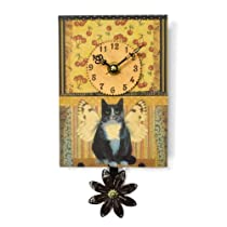 Duane Scherer Fairy Cat Sweet Petite Wall Clock