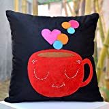 Coffe With A Splash Of Hearts- Bright Colours And Beautifully Etched Motif In Velvet - B00NMBVGMU