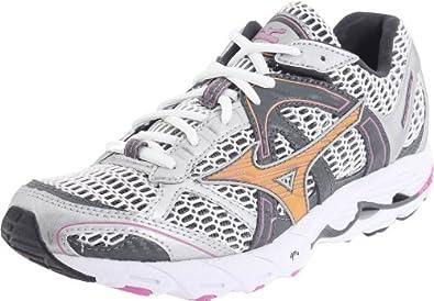 Mizuno Women's Wave Alchemy 11 Running Shoe, White/Gold