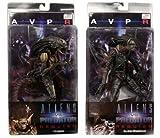 Alien Vs. Predator: Requiem Action Figure Set of 2 : Alien Warrior, Hybrid