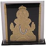Shree Satguru Gifts & Toys Fiber Ganapati Photo Frame (10 Cm X 3 Cm X 9 Cm, Black & Gold, SSGT-185)
