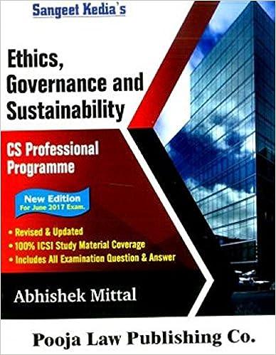 Sangeet Kedia CS Professional Programme 2017 Ethics, Governance & Sustainability Book