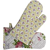 Multi Colour Printed Kitchen Linen Set (Oven Mitten Set (2 Pc)) - B01LYT5XSQ
