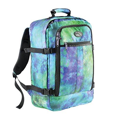 Cabin Max Metz - Sac à dos et bagage à mains pour cabine léger et certifié conforme - 44L 55 x 40 x 20 cm (galaxie bleue)