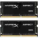 HyperX HX424S14IB2K2/16 Impact Black 16GB Kit Of 2 (2x8GB)2400MHz DDR4 Non-ECC CL14 260-pin Unbuffered SODIMM...