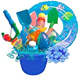 """Boys """"Fun In The Sun"""" Gift Basket, Includes Buckets, Water Shooters, Shovels, Swim Toys & More"""