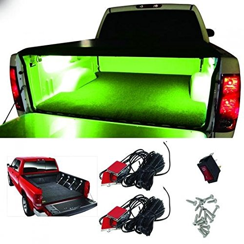 Partsam 8pods Waterproof Truck Bed Exterior Truck Bed Ultra Bright Green Lighting Kit 6leds/pod