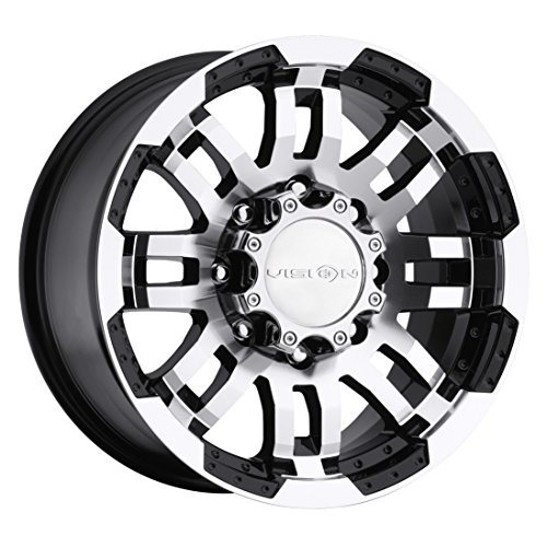 Vision Warrior 375 Gloss Black Machined Face Wheel (17×8.5″/8×165.1mm)