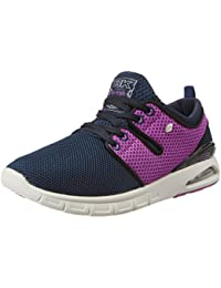 British Knights Women's Tempo Navy And Purple Mesh Sneakers