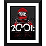 Graphic Art Poster - 2001 Space Odyssey - Hollywood Collection - Movie Poster Collection - Small Size Ready To Hang Framed A3 Size Poster (12 Inches X 17 Inches) For Home And Office Interior Decoration By Tallenge