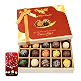 Chocholik Belgium Chocolates - Sweet Treat Of 20pc Truffle Box With 3d Mobile Cover For IPhone 6 - Diwali Gifts