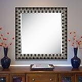 Elegant Arts & Frames Black And Silver Wall Decorative Wood Mirror 30 Inch X 30 Inch