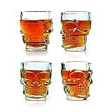 Packnbuy Set Of 8 Drinking Glasses Skull Shaped For Vodka Whisky Shots For Party Celebrations