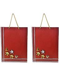 Richa Kriti Handmade Paper Reusable Shopper Bag (Mahroon)