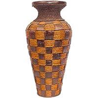ARTELIER Polyresin Jute Vase (53 Cm X 16 Cm X 53 Cm, ID-SQ044)