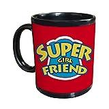 Gifts For Super Girl Friend Black Coffee Mug