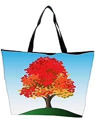Snoogg Colorful Tree Waterproof Bag Made Of High Strength Nylon