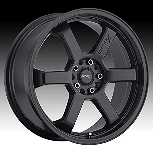 Drifz Hole Shot 16 Black Wheel / Rim 5×100 & 5×4.5 with a 42mm Offset and a 73 Hub Bore. Partnumber 303B-6701842