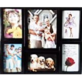 Laps Of Luxury - Black Color Family Photo Frame Collage Set Of 6 Pcs.