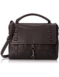 Kooba Handbags Viktoria Natural Grain Top Handle Bag, Black, One Size