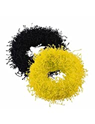 Sarah Black And Yellow Rubber Band Set For Women