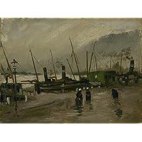 Tallenge - Vincent Van Gogh - The De Ruijterkade In Amsterdam - Large Size Unframed Rolled Canvas Art Print For...