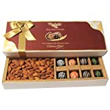Chocholik Dryfruits Gift Box - Heavenly Treat Of Chocolates & Almonds Gift Box - Diwali Gifts