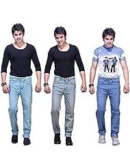 X-CROSS Men's Slim Fit Jeans Combo (Pack Of 3) - B0132WVWG8